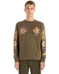 Maharishi - Dragon Embroidered Jersey Sweatshirt - Lyst