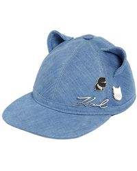 Karl Lagerfeld - Choupette Cat Ears Denim Hat W/ Pins - Lyst