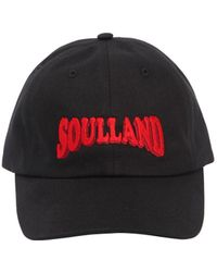 Soulland - Logo Embroidered Dad Hat - Lyst