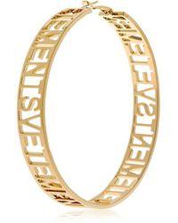 Vetements - Big Single Hoop Brass Earring - Lyst