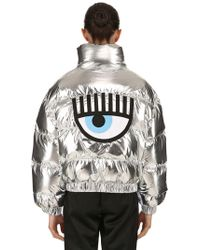 Chiara Ferragni - Eye Patch Metallic Down Jacket - Lyst
