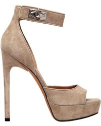 Givenchy - 125mm Shark Lock Suede Platform Sandals - Lyst