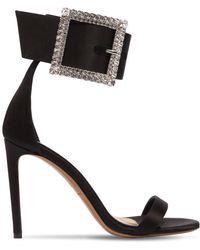 Alexandre Vauthier - Yasmin 100 Silk Crystal Buckle Sandals - Lyst