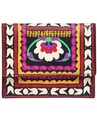 Etro | Printed Leather Card Holder | Lyst