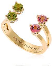 Delfina Delettrez - Pink & Green Dots Ring - Lyst