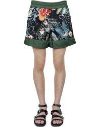 Christian Pellizzari - Floral Printed Nylon Swim Shorts - Lyst