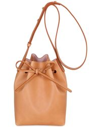 Mansur Gavriel - Mini Vegetable Tanned Leather Bucket Bag - Lyst