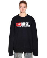 DIESEL - Embroidered Cotton Jersey Sweatshirt - Lyst