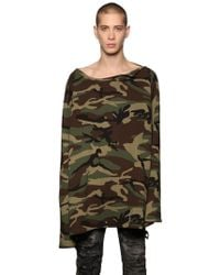 Faith Connexion | Camouflage Printed Sweatshirt | Lyst