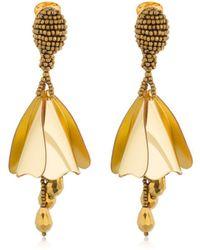 Oscar de la Renta - Small Impatiens Earrings - Lyst