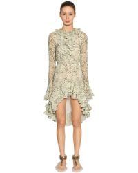 Giambattista Valli - Ruffled Floral Silk Georgette Dress - Lyst