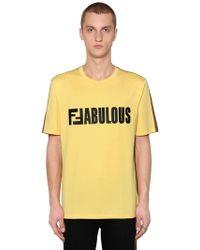 Fendi - Two Tone Ffabulous Jersey T-shirt - Lyst