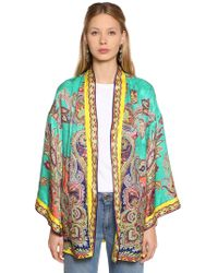 Etro - Paisley Printed Silk Jacquard Jacket - Lyst