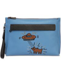 COACH | Keith Haring Printed Leather Zip Pouch | Lyst