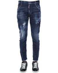 DSquared² - 17cm Tidy Biker Spray Wash Denim Jeans - Lyst