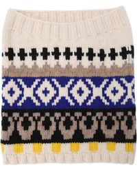 Maison Margiela - Wool Jacquard Knit Tube Collar - Lyst