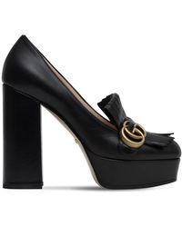 Gucci - 120mm Marmont Fringed Leather Pumps - Lyst