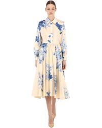 Antonio Marras - Floral Print Light Cotton Dress - Lyst