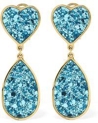 Shourouk - Kim Glitter Earrings - Lyst