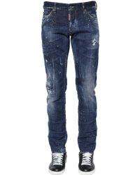 DSquared² - 17.5cm Slim Jean Cotton Denim Jeans - Lyst