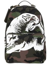 Valentino - Panther Printed Camo Canvas Backpack - Lyst