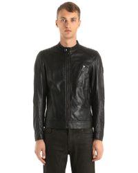 Belstaff - V Racer Biker Leather Jacket - Lyst