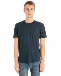 James Perse - T-shirt In Jersey Di Cotone Leggero - Lyst