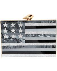 KOTUR - Merrick American Flag Perspex Clutch - Lyst