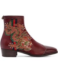 Gucci - 30mm Plata Dragon Leather Boots - Lyst