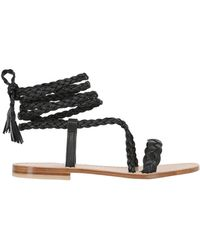 Capri Positano - 10mm Faito Braided Leather Sandals - Lyst