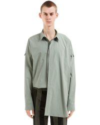 Damir Doma - Camicia Oversize In Popeline Di Cotone - Lyst