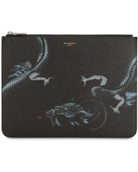 Givenchy - Pochette En Toile Enduite Imprimé Capricorne - Lyst