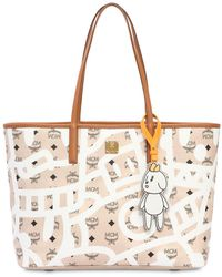 MCM - Medium Eddie King Faux Leather Tote Bag - Lyst