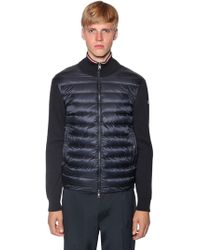 Moncler - Nylon Tricot Down Sweater - Lyst