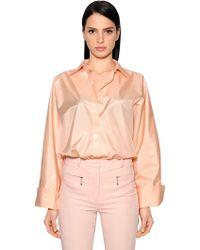 Nina Ricci - Oversized Techno Satin Shirt - Lyst