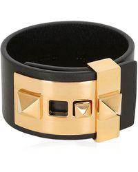 Valentino - Rockstud Leather Cuff Bracelet - Lyst