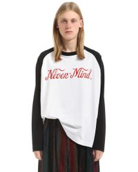 "Etudes Studio | T-shirt ""never Mind"" In Jersey Di Cotone 