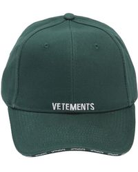 Vetements - Logo Embroidered Canvas Hat - Lyst