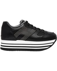 Hogan   70mm Maxi 222 Studded Leather Sneakers   Lyst