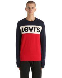 Levi's - Colour Block Logo Cotton Sweatshirt - Lyst