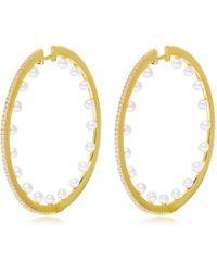 Apm Monaco   Pearls Hoop Earrings   Lyst
