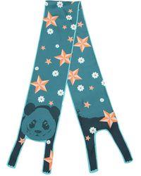 Cléo Ferin Mercury - Panda Flowers & Stars Twill Silk Scar - Lyst