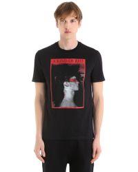 Neil Barrett - A Kind Of Red Cotton Jersey T-shirt - Lyst