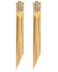 Iosselliani - Long Fringed Earrings - Lyst