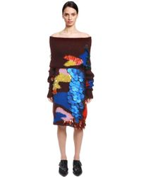 Delpozo - Sequined Mohair & Silk Jumper Dress - Lyst