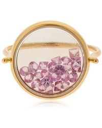 Aurelie Bidermann - Chivor Bague Sapphire Rose Gold Ring - Lyst