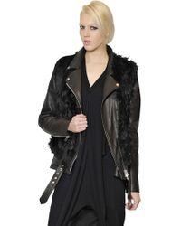 Maison Margiela - Alpaca Vest With Leather & Nylon Jacket - Lyst