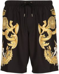 Versace - Baroque Printed Nylon Swim Shorts - Lyst