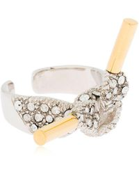 Schield - Laces Ring With Swarovski Crystal - Lyst