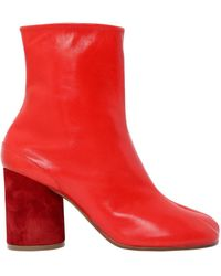 Maison Margiela - 90mm Tabi Leather Ankle Boots - Lyst